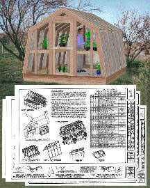 Earthbag Building: Attached Greenhouse with Vertical Glazing Plan